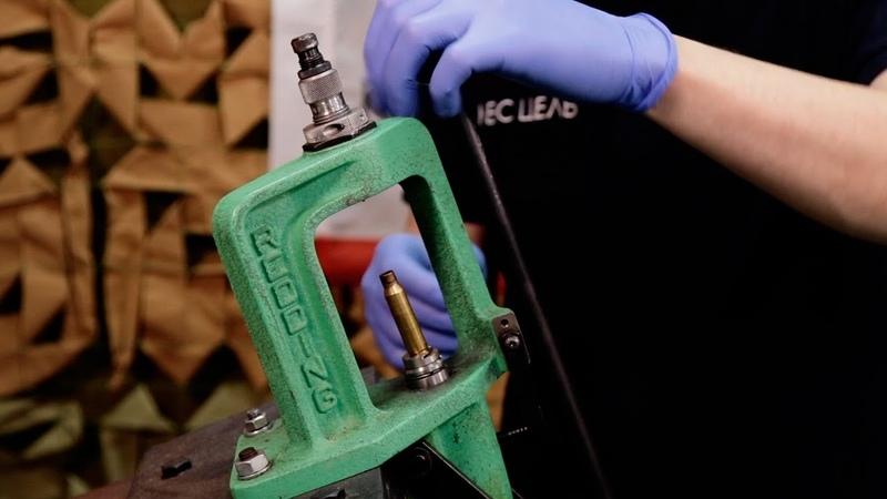 Подготовка гильзы: выбор бушинга настройка матрицы чистка гильзы.