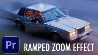 How to Create a Speed Ramped Zoom Effect in Adobe Premiere Pro CC (Tutorial)