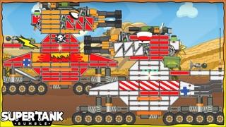 Game xe tăng - Tổng hợp tất cả Đấu sĩ Дора Level 28   Super Tank Rumble   Phim hoạt hình về xe tăng