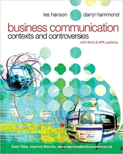 Business Communication Contexts and Controversies