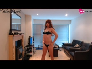 crossdresser/tgirl model claire bunni - yesfor outfits modeling/review