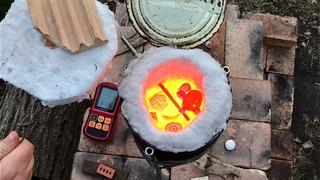 🍯 МИНИ ПЕЧЬ для обжига керамики ИЗ КОНСЕРВНОЙ БАНКИ И СТРОИТЕЛЬНОЙ ГОРЕЛКИ Волшебство керамики