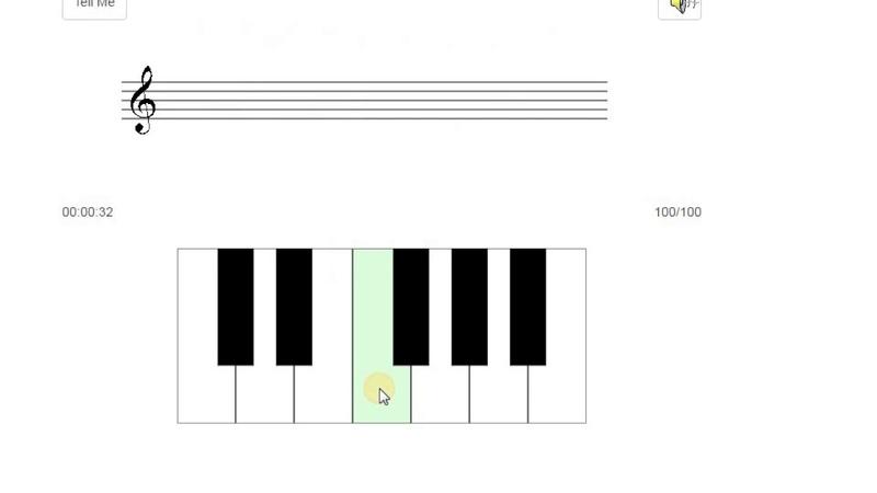 Развитие абсолютного слуха по методике Бережанского. 12 звуков, темп Allegretto, 100%.