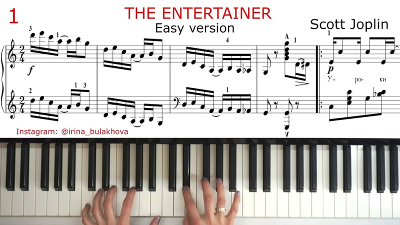 THE ENTERTAINER Easy version SCOTT JOPLIN Ragtime Two Step HOW TO PIAY PIANO Tutorial Sheet Music